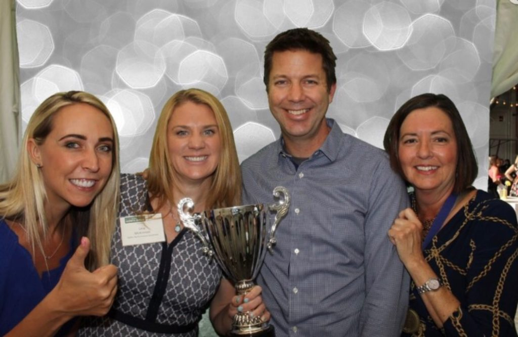 TiER1's Denver team accepts a Best Place to Work award