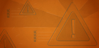 Caution signs with an orange background that draw attention to ways to improve company culture