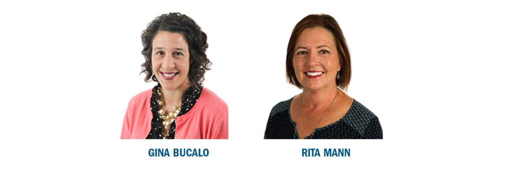 T1 communication strategists Gina Bucalo and Rita Mann