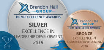 An image of the Silver and Bronze Brandon Hall Excellence Awards for Leadership Development