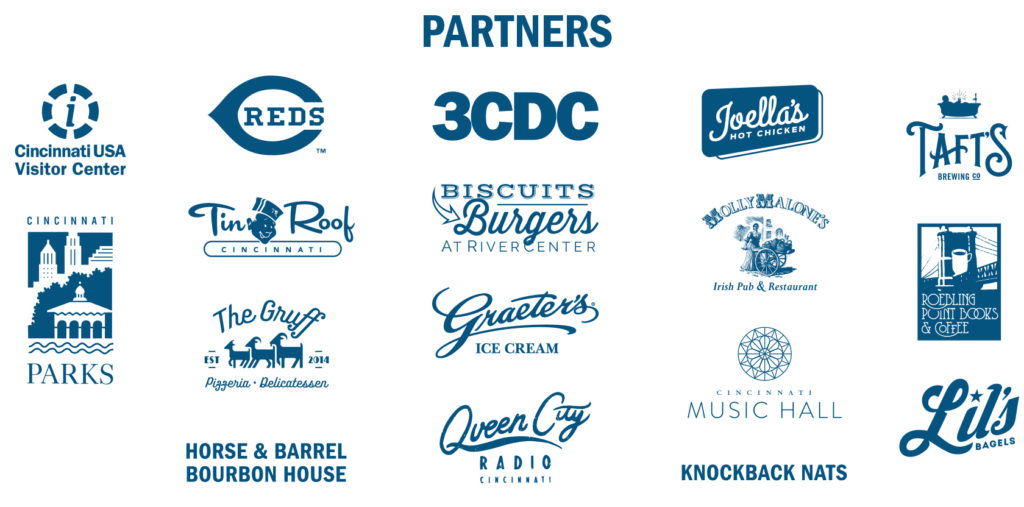 Logos of all the venu partners for Scurry 2019